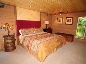 Rental bedroom at Chalet Village.