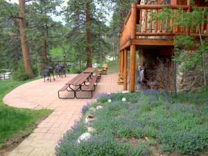 Grand Room Lodge patio at Amberwood.