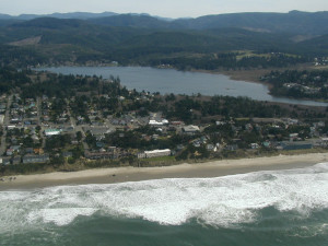 Aerial view of Bella Beach Property Management.