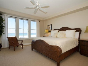 Rental bedroom at WaterSound Vacation Rentals.