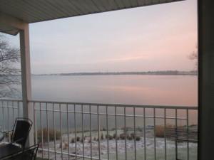 Sunrise at Delavan Lake Resort.
