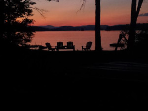 Sunset at Highland Lake Resort.