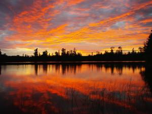 Beautiful sunsets at Poplar Creek  B & B.