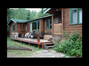 Cabin exterior at Churchill River Canoe Outfitters.