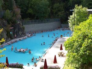 Hot springs near Bighorn Meadows Resort.