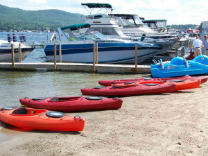 Kayaks at The Georgian Lakeside Resort.