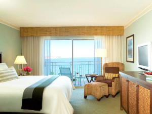 Guest room at Loews Coronado Bay Resort.