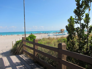 The beach at By the Boardwalk.