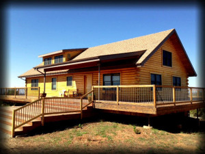 Cottage exterior at Canyonlands Lodging.