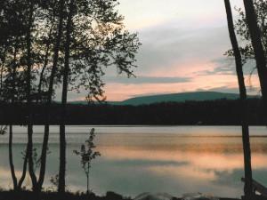 The lake at Mountain Springs Lake Resort.