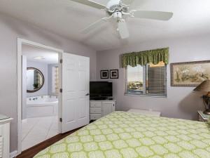 Guest bedroom at Brooks and Shorey Resorts, Inc.