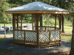 Gazebo at Cheechako Cabins.