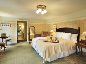 Guest room at Pinehurst Resort.