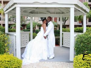 Wedding at Wyndham Lake Buena Vista Resort.