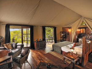 Guest room at Serengeti Migration Camp.
