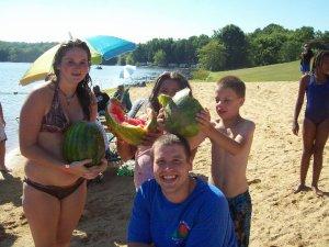 Beach activities at Wilderness Presidential Resorts.