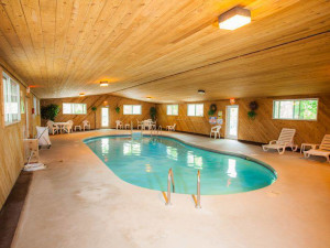 Indoor pool at the Nordic Lodge.