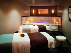 Spa beds at Crystal Mountain Resort and Spa.