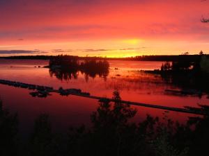 Sunset at Pine Portage Lodge