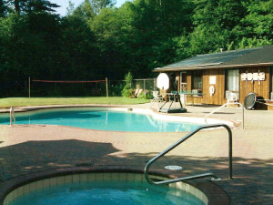 Outdoor Pool at Mountain River Lodge
