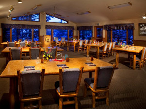 Dining at Averill's Flathead Lake Lodge.