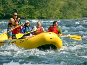 River rafting at McKenzie River Mountain Resort.