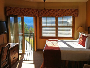 Guest bedroom at Westgate Smoky Mountain Resort.