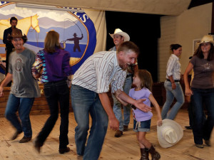 Family dance at Colorado Trails Ranch.
