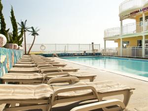 Outdoor pool at Coliseum Ocean Resort.