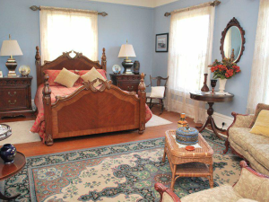 Rental bedroom at Beachhouse Vacation Rentals.