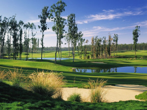 Golf course at Valentina Suites.