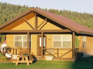 Cabin exterior at Gaynor Ranch & Resort.