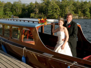 Wedding couple at Severn Lodge.