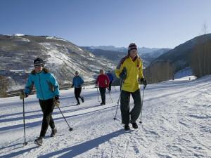 Cross country skiing at Vail Mountain Lodge & Spa.
