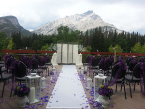 Wedding at Banff Lodging Company.