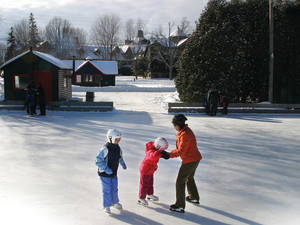 Ice skating at Fairmont Le Chateau Montebello.