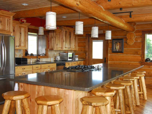 Lodge kitchen at Rocky Mountain Elk Ranch.
