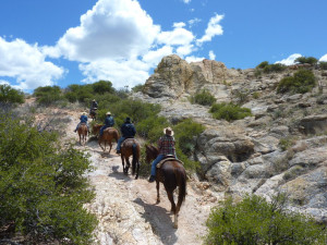 Horseback riding at Circle Z Ranch.