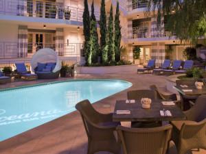 Outdoor pool at The Oceana Santa Monica.