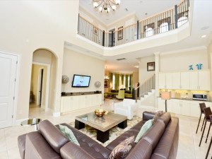 Rental living room at Vacome.