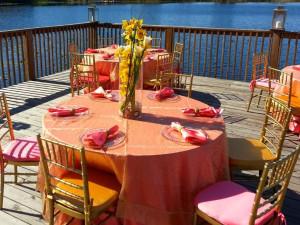 Wedding reception at Lake Eve Resort.