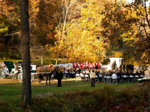 Wedding ceremony at The Lodges at Gettysburg.