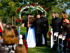 Wedding ceremony at Tullymore Golf Resort.