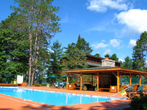 Outdoor pool at Chippewa Retreat Resort.