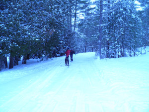 Skiing at Westwind Inn on the Lake.