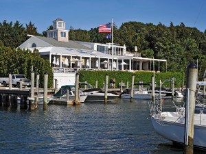 Exterior view of East Hampton Point and Marina.