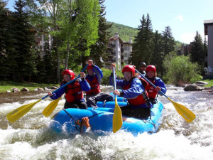 Rafting at Vail's Mountain Haus.