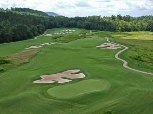 Brasstown Valley Resort golf course near Nevaeh Cabins.
