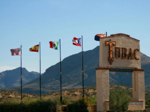 Outdoor sign at Tubac Golf Resort.