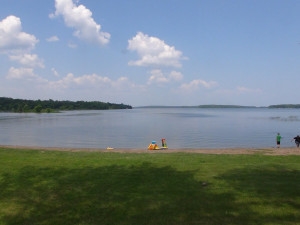 View of lake at BlueWater Lodge.